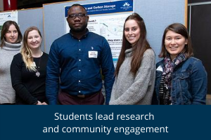 Student lead research and community engagement
